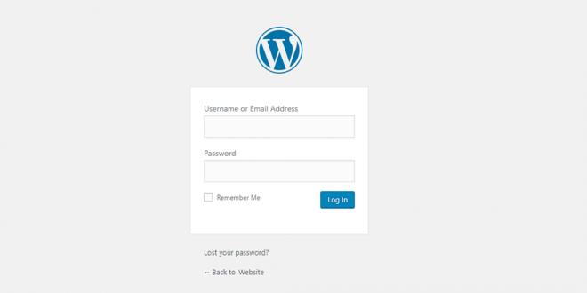 WordPress-login
